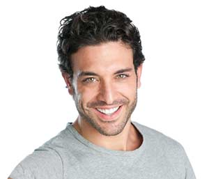 Smiling handsome man with gray colour Tshirt